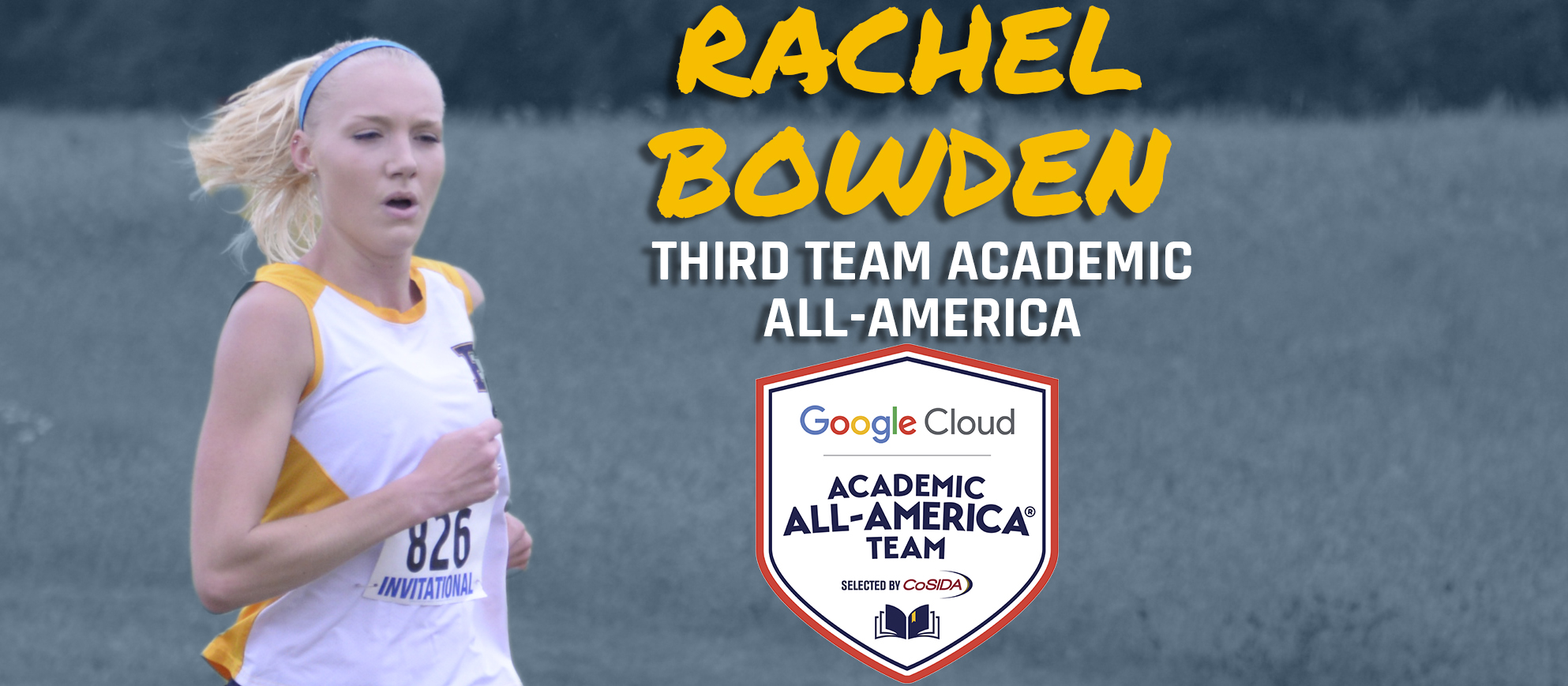 Franklin's Rachel Bowden Named Google Cloud Third Team Academic All-America