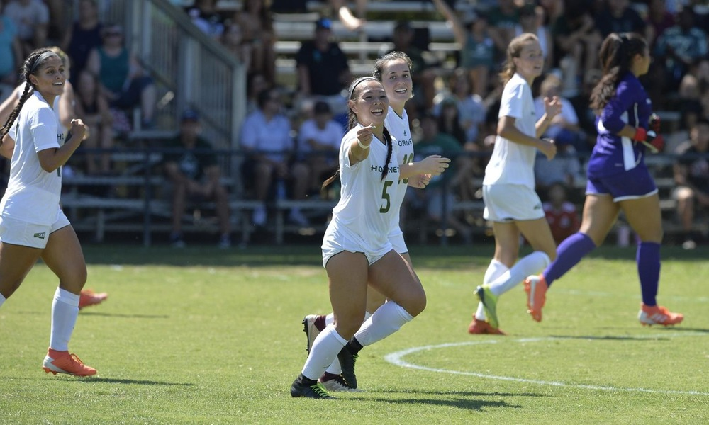 STRONG SECOND HALF LIFTS WOMEN'S SOCCER TO 3-1 WIN OVER CAL POLY IN HOME OPENER