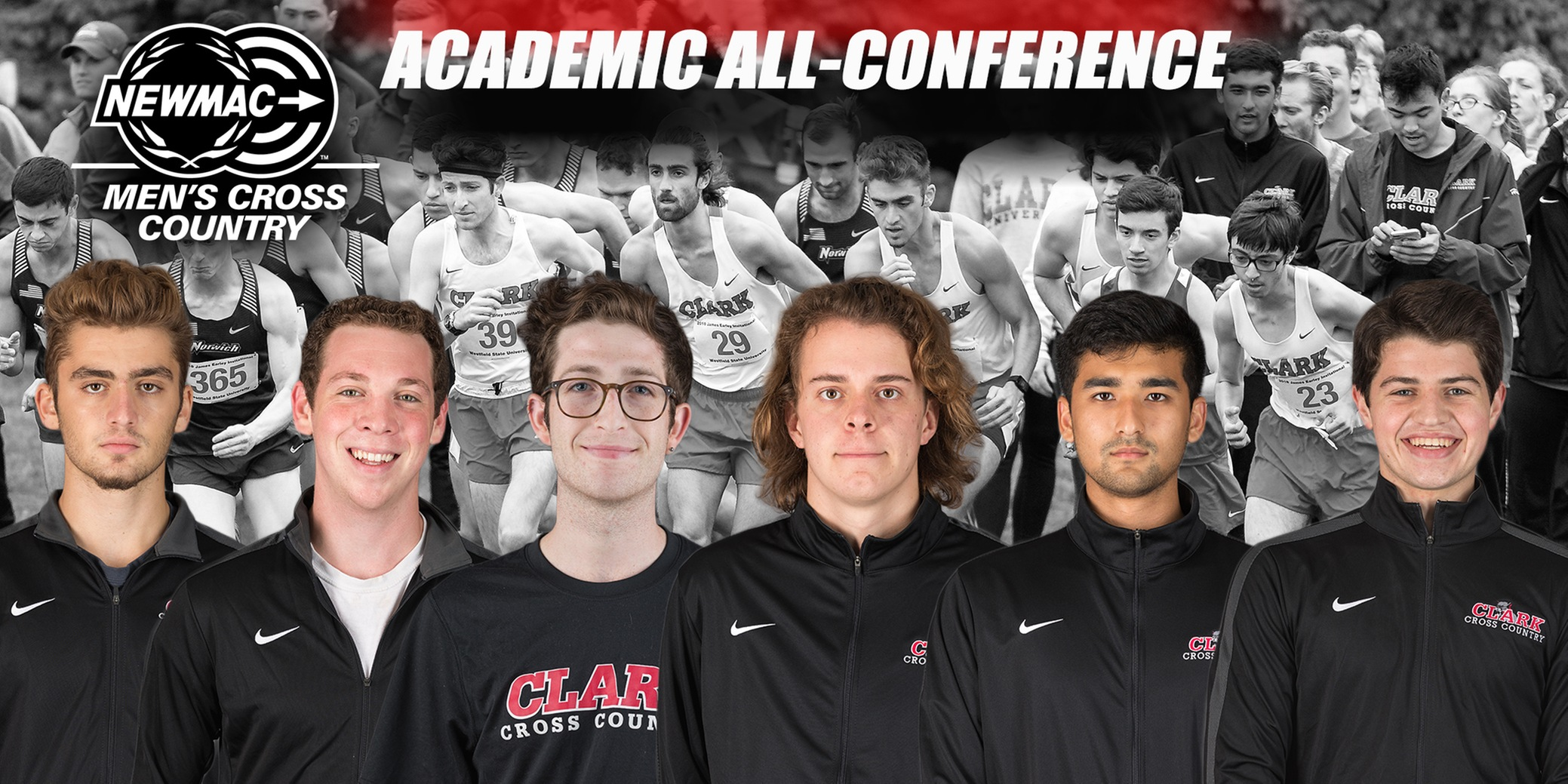 Men's Cross Country Places Six on 2018 NEWMAC Academic All-Conference Team