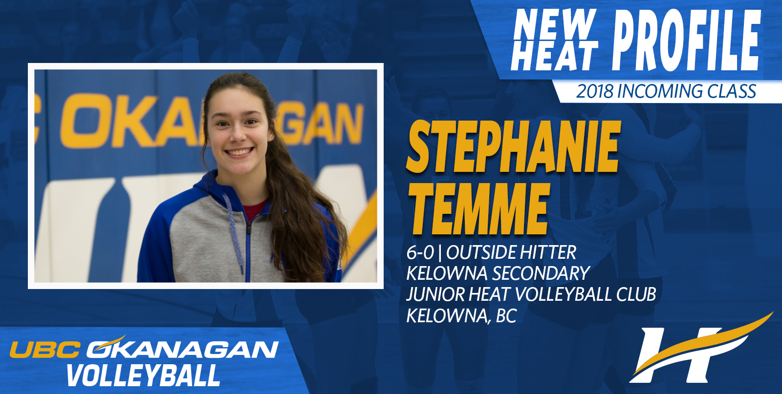 Stephanie Temme, a 6-foot outside hitter, will go from the Owls to the Heat