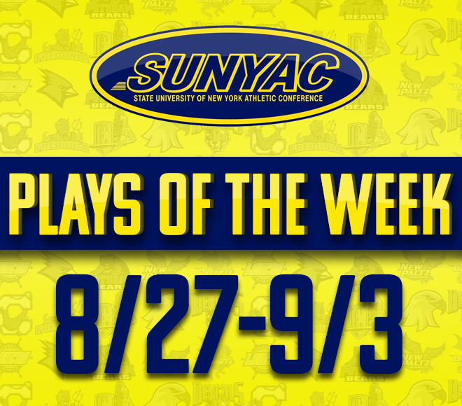2018 SUNYAC  Fall Plays of the Week - Aug. 27 - Sept. 3