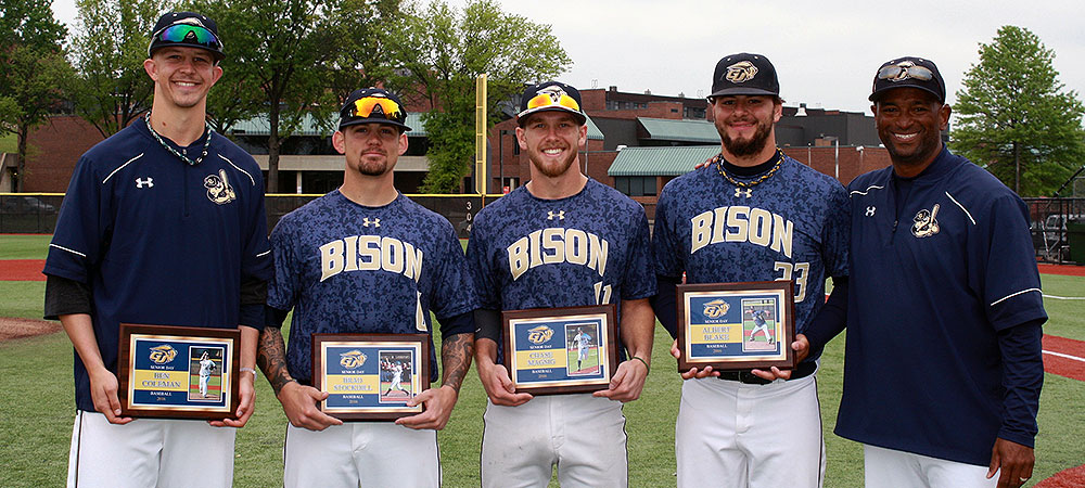 Baseball seniors honored on Senior Day as GU host top NEAC squad