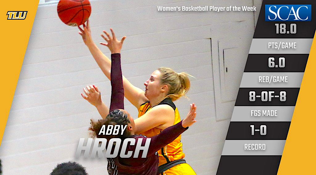 Texas Lutheran's Abby Hroch named SCAC Women's Basketball Player of the Week