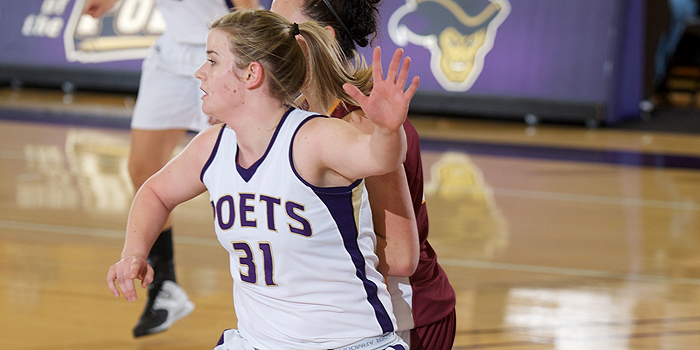 Poets narrowly miss upset; Fall in SCIAC opener 60-52 to Regals
