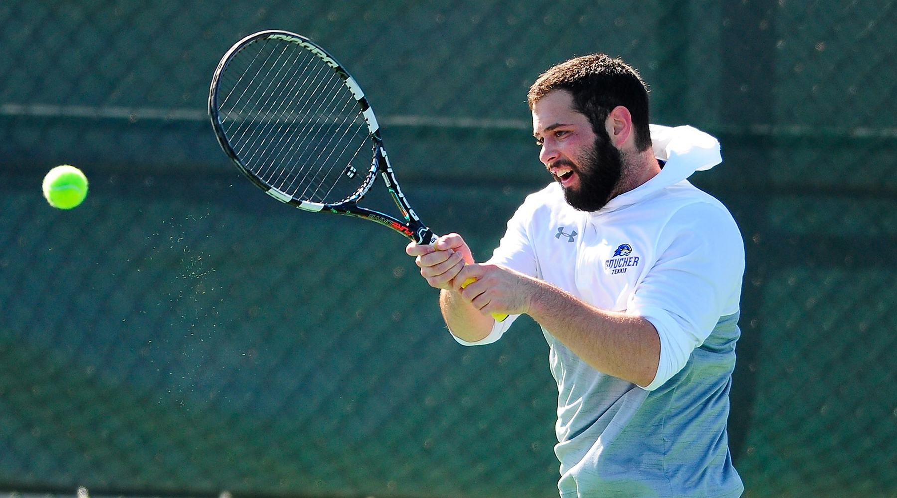 Men's Tennis Takes Two from Harford C.C., St. Mary's in Spring Home Opener