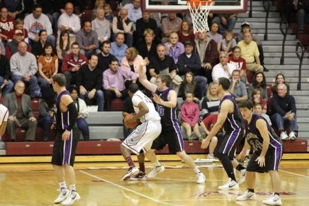The University of Scranton men's basketball team faced a Division I foe for the first time since 2001 when it faced St. Joseph's on the road on Monday night.