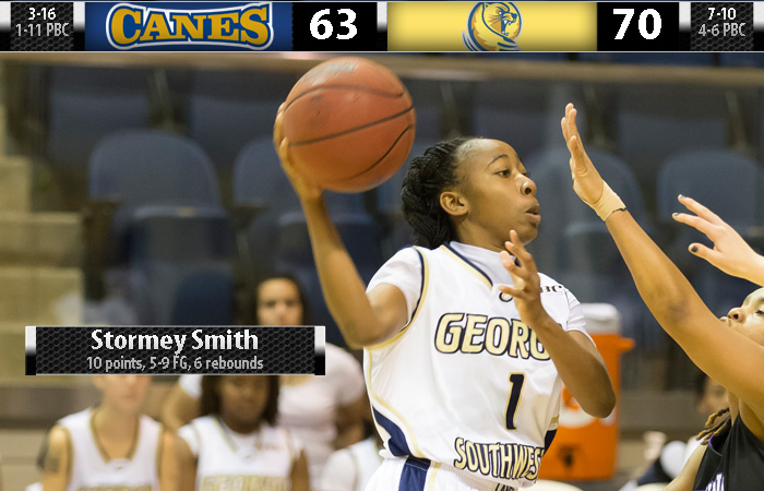 Lander Outlasts GSW on Stormey Evening, 70-63.