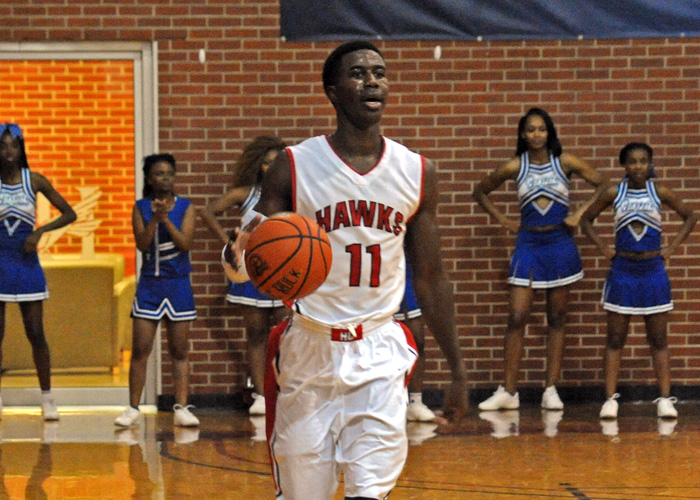 Andre Ashley, shown here earlier this season, had 16 points and seven rebounds in Wednesday's 64-59 win over LaGrange.