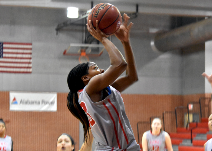 Shaonica Thomas had 22 points, eight rebounds and three blocks in Wednesday's 85-72 win over Covenant in the opening round of the USA South Tournament.