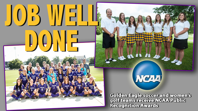 Two Golden Eagle teams receive Public Recognition Awards from NCAA