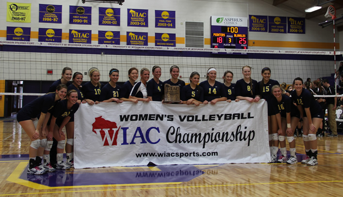 Volleyball Wins WIAC Championship Title; Earns Conference's Bid