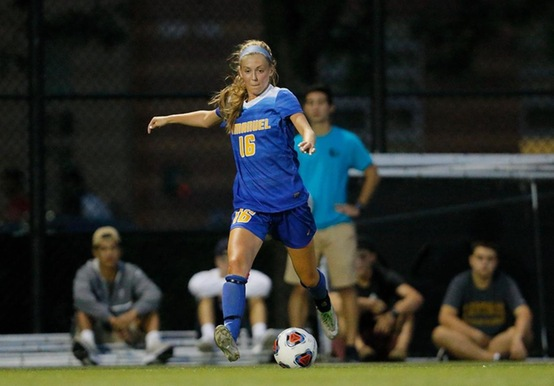 MCKENELLEY STRIKES TWICE TO LIFT WOMEN'S SOCCER PAST MONKS IN OVERTIME, 2-1