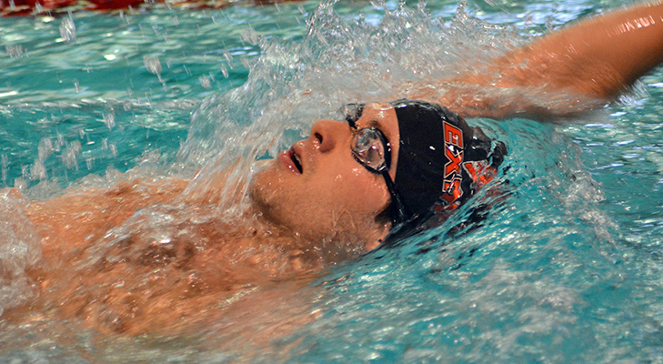 Men's Swimming Competes Against Utica, Alfred St.