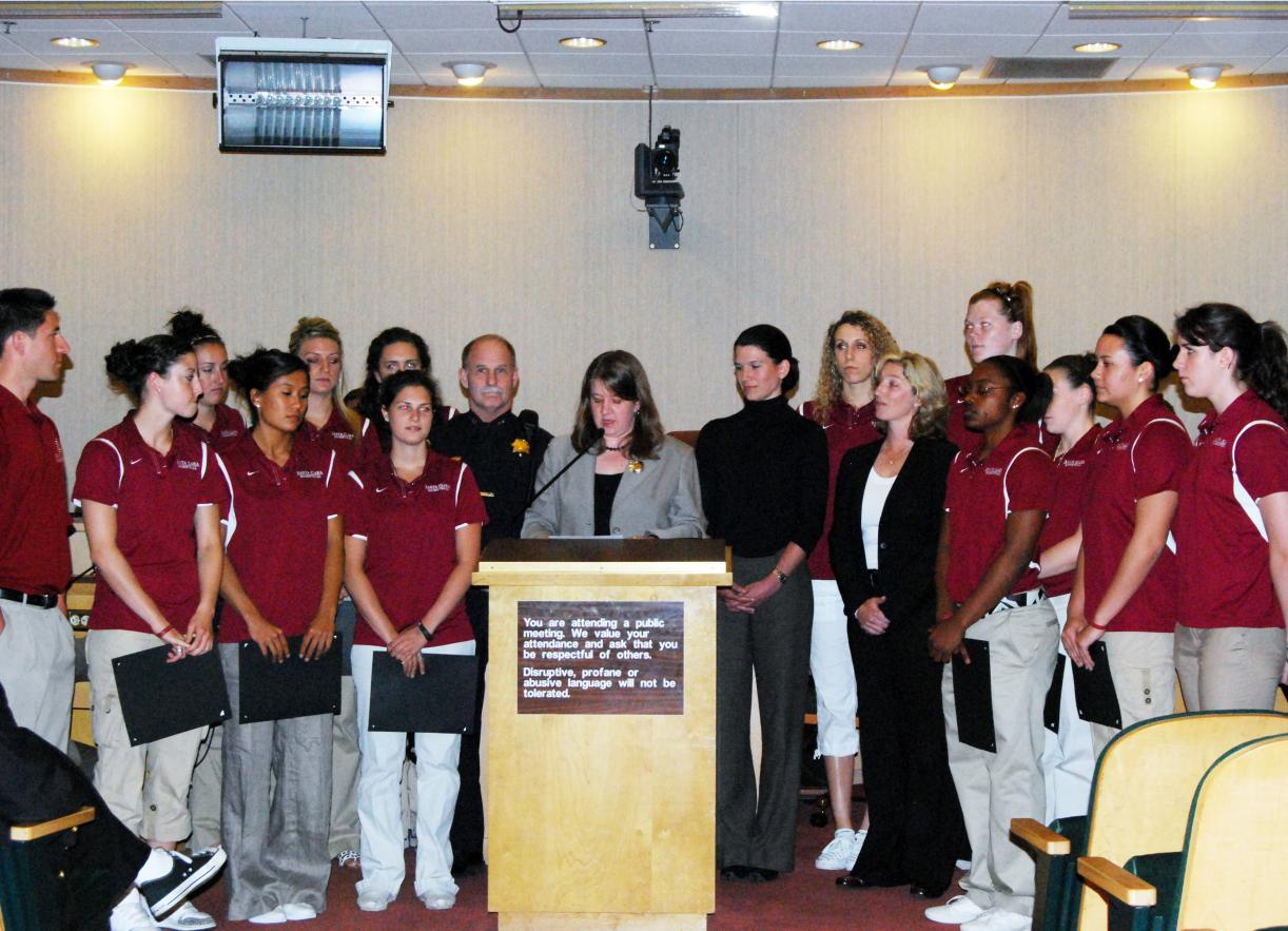 Santa Clara Women's Basketball Honored for Community Involvement
