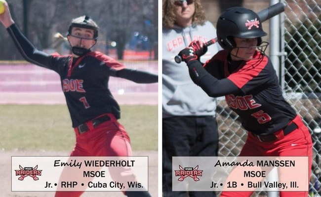 Softball Sweeps Final NACC Weekly Honors