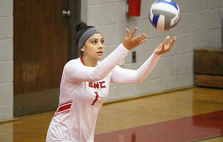 Ruth Aguilar Repeats as NECC Women's Volleyball Player of the Week