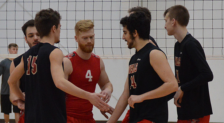 Men's Volleyball Earns NEAC Semifinal Win