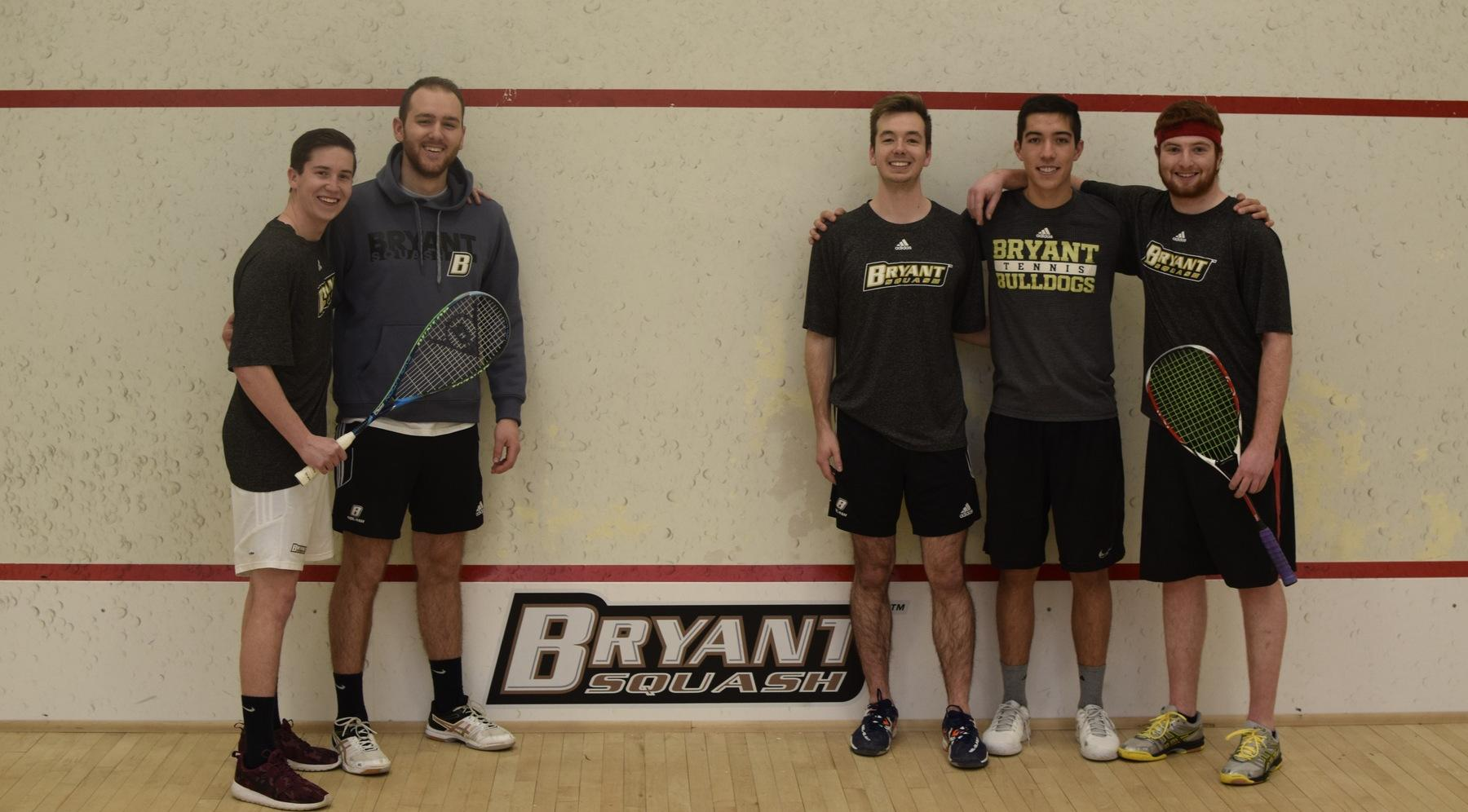 Squash Team Hosts Senior Night at Brown!