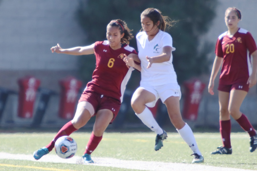 Lancer Yulissa Macias in action during a recent game.