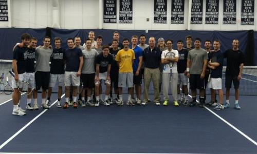Men's Tennis Welcomes Back Alumni on Hall of Fame Weekend