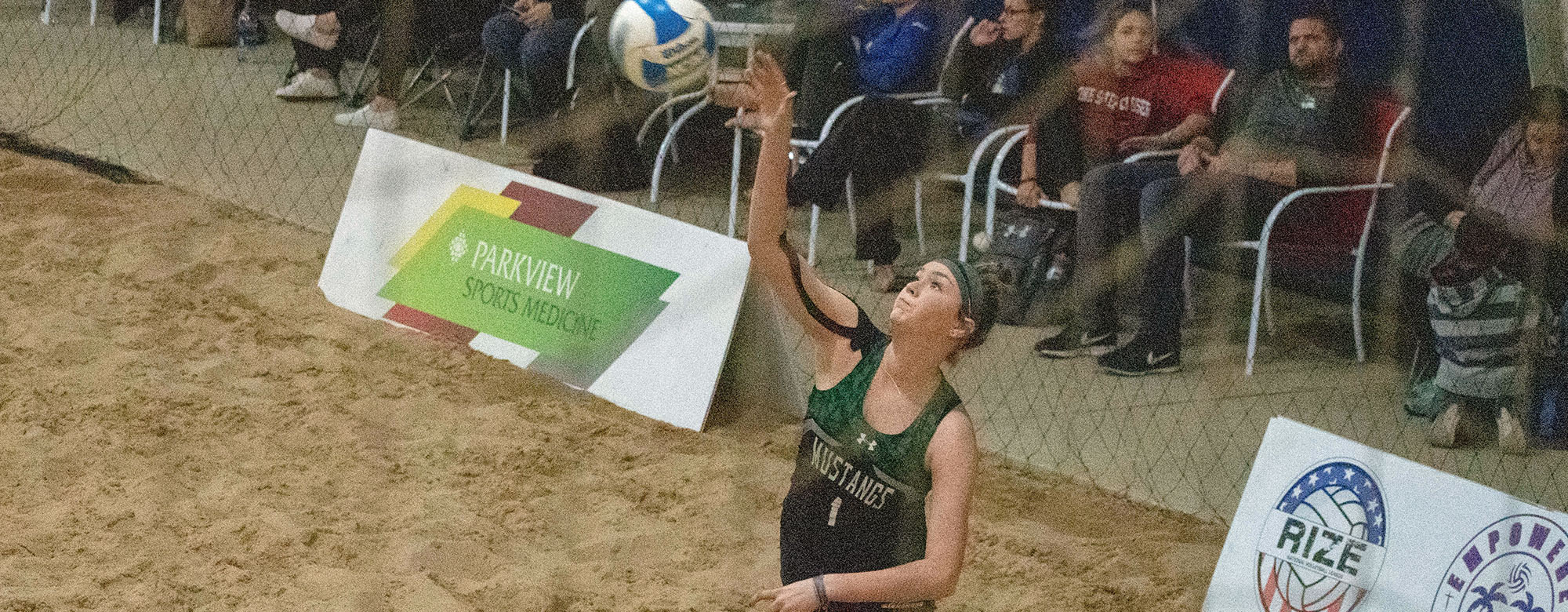 Blevins, Pellini Finish 4-0 as Mustangs Wrap Up Beach Bash