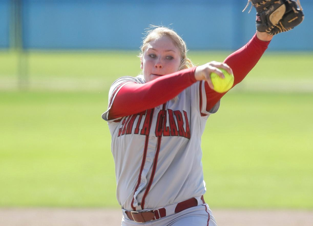 Carissa Theis Hurls Two-Hit Shutout and Santa Clara Homers Six Times in DH at Pacific