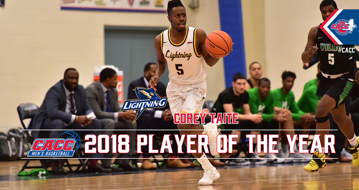 Goldey-Beacom's Corey Taite Named 2018 CACC MBB Player of the Year; All-League Teams Announced