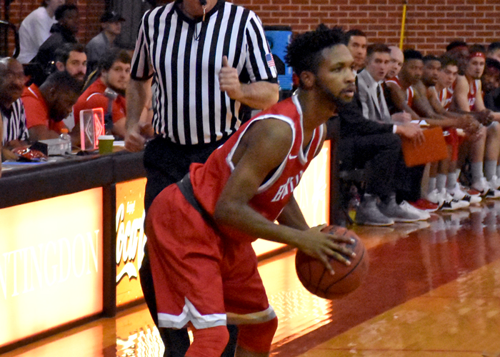 Aaron Washington scored 14 points in Sunday's exhibition loss against the University of South Alabama.
