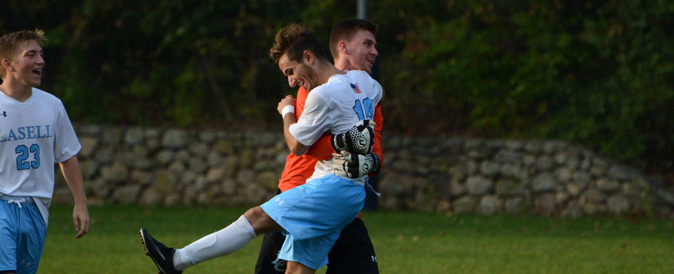 Latsha Sends Men's Soccer to 3-2 Victory Over Southern Vermont in 86th Minute