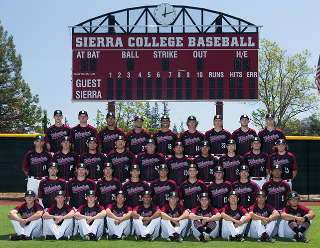 2018 Sierra College Baseball Team