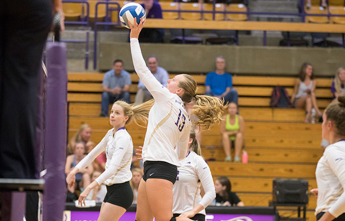 Women's Volleyball Completes Home Weekend with Loss to Perennial Power Adelphi