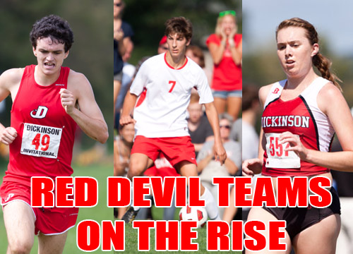 The Red Devil men's soccer and men's and women's cross country teams both moved up in their respective national rankings this week<BR>