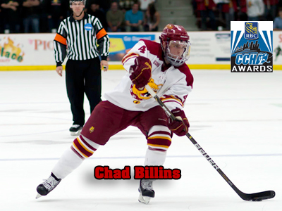 Ferris State's Chad Billins named a finalist for the 2010-11 CCHA Scholar-Athlete of the Year Award.