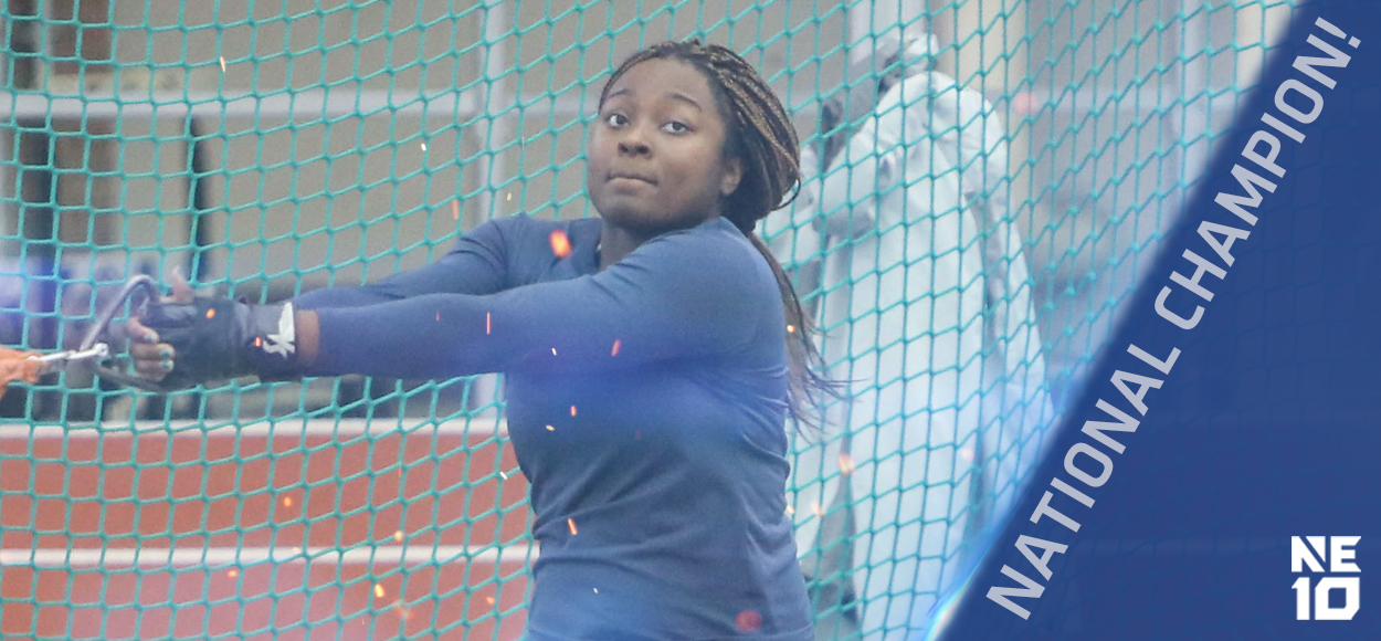 Embrace The Championship: Southern Connecticut's Destiney Coward Wins National Title in Weight Throw