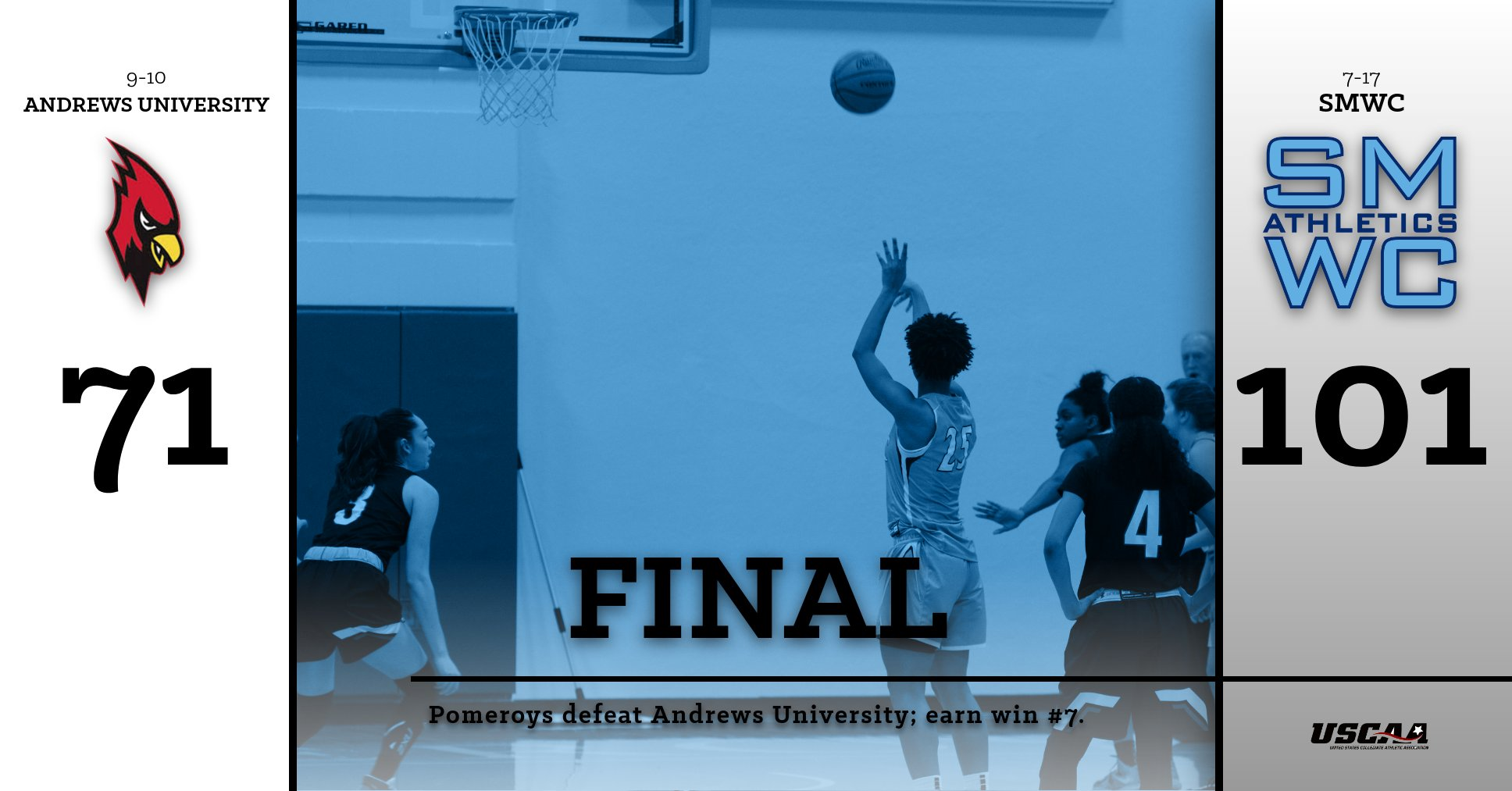 Pomeroys Crush Andrews 101-71; Break School Record for Three-Point Baskets Made in a Contest (28)