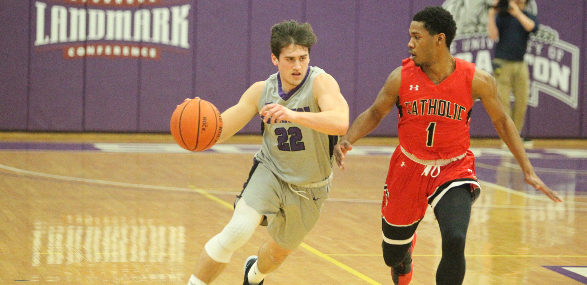 Bailey, DeVerna Power Men's Basketball Past Catholic, 71-63