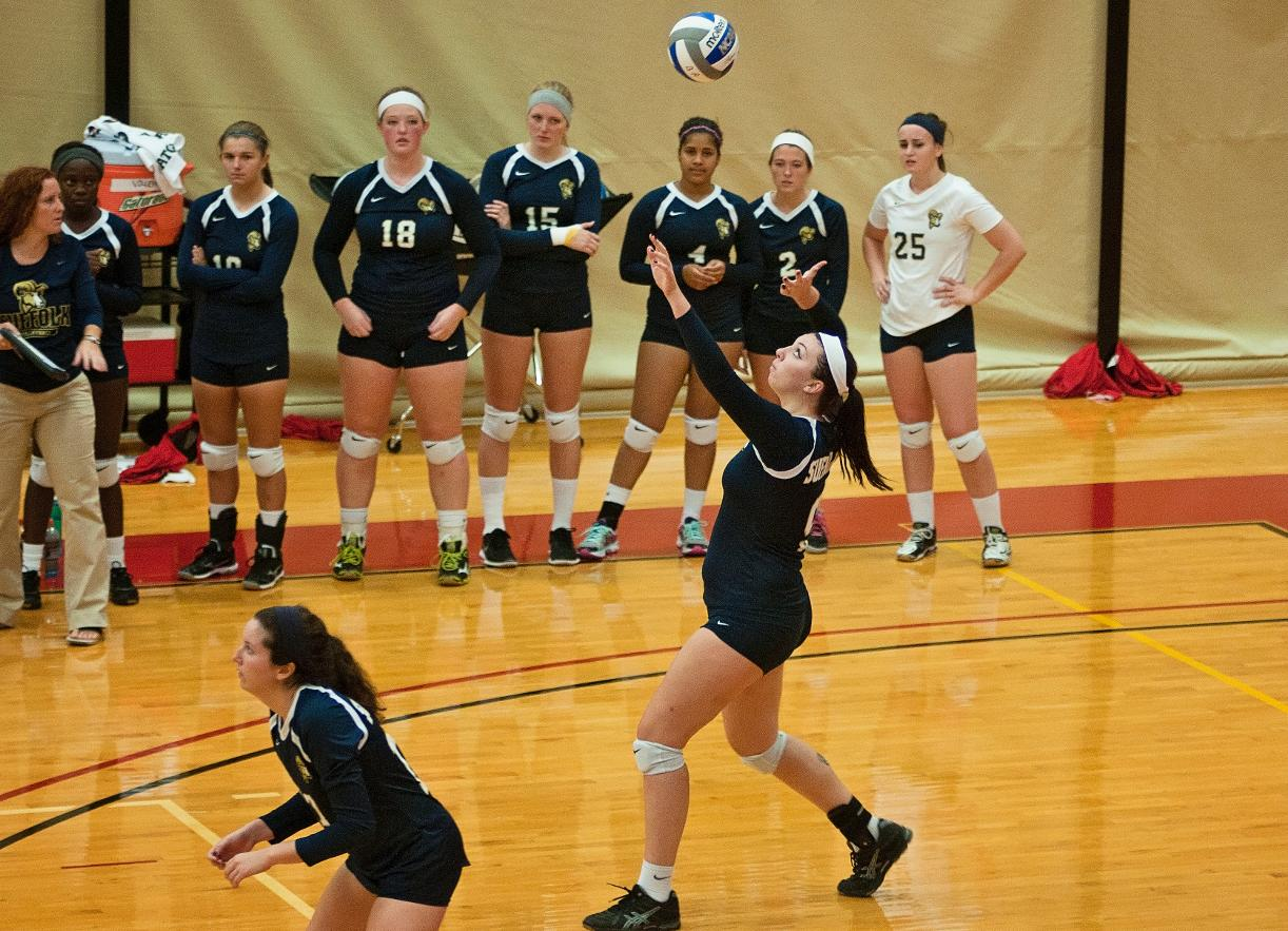 Volleyball Drops Tri-Match at Framingham State, vs. Westfield State