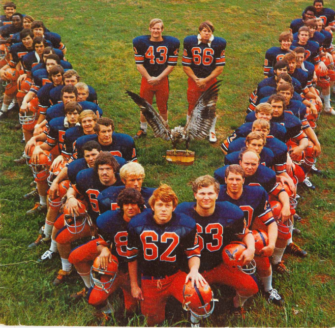 The front cover to the 1972 Carson-Newman football media guide.