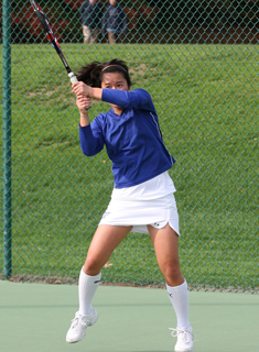 Blue Tennis Clinches NEWMAC Regular-Season Crown