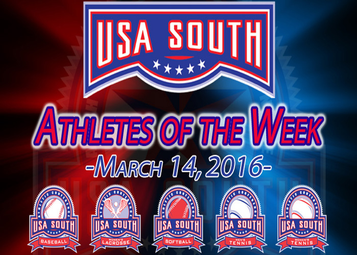 Harden earns USA South Athlete of the Week honors