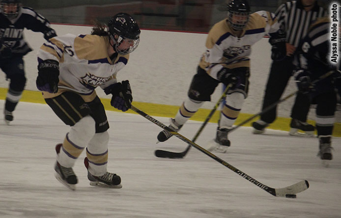 Dwyer's hat trick powers women's ice hockey past Daniel Webster