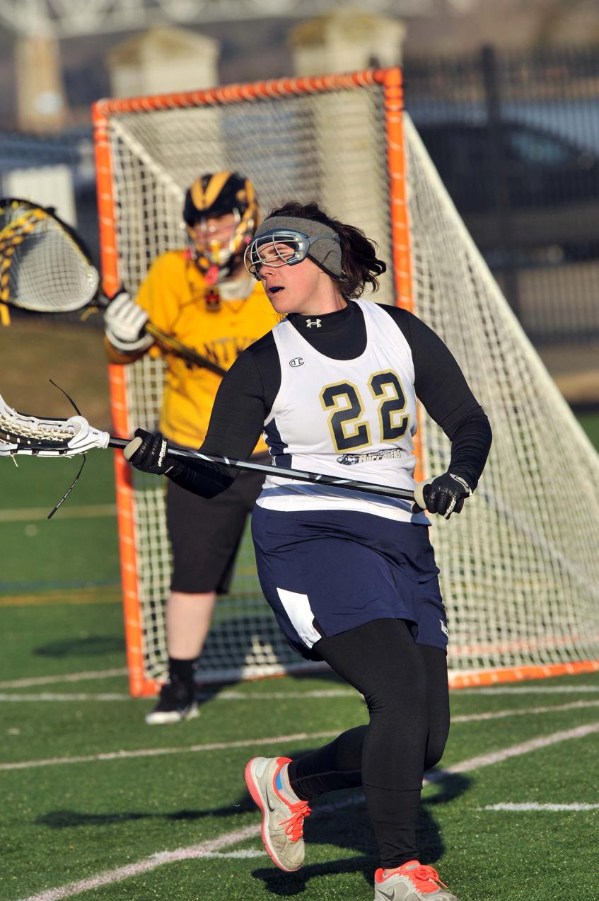 Doucette's Goal In Closing Seconds Lifts Women's Lacrosse To Third Straight Victory With 12-11 Non-League Triumph At Elms