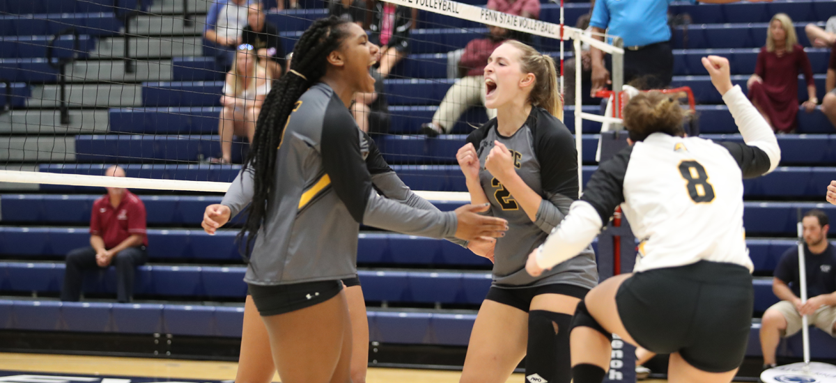 Freeman Shines as Volleyball Sweeps Eastern Kentucky to Split on Saturday