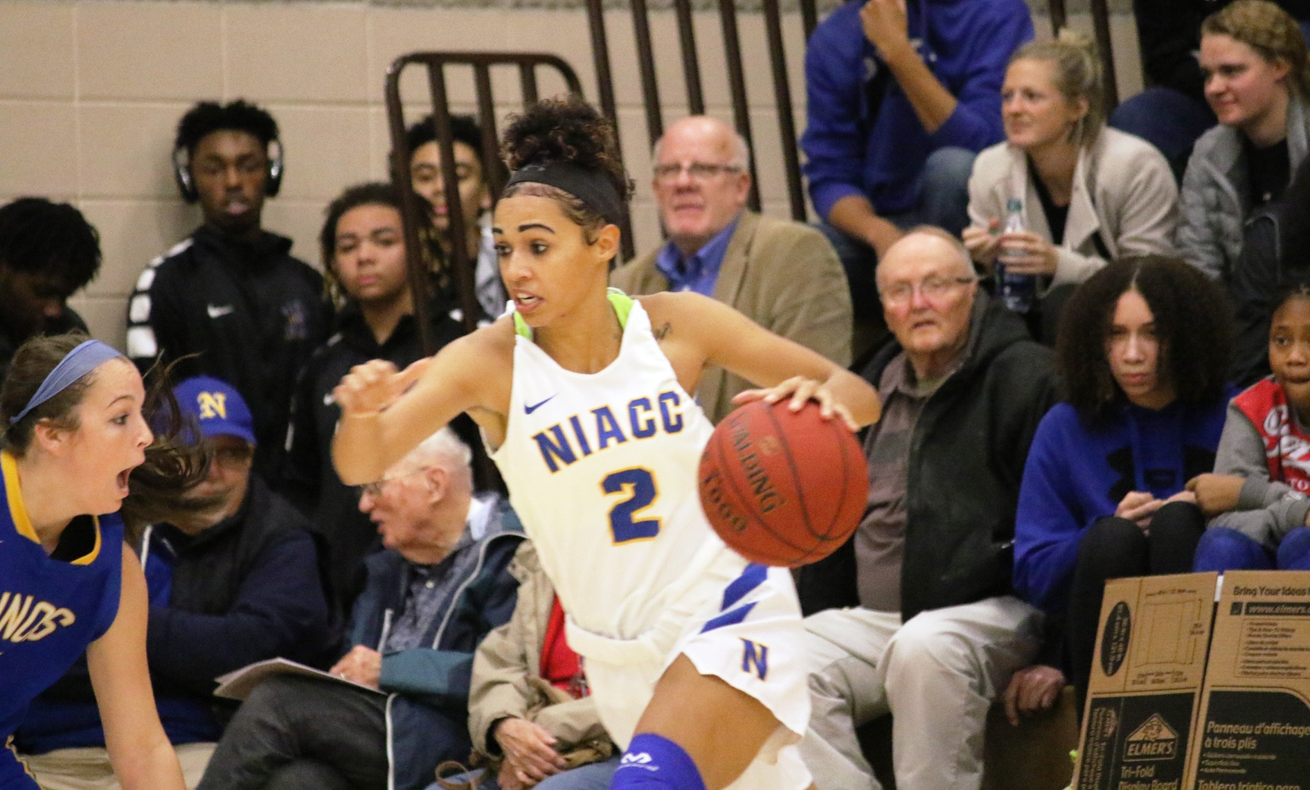 NIACC's Mikayla Homola drives to the basket in last Friday's win over Illinois Central.