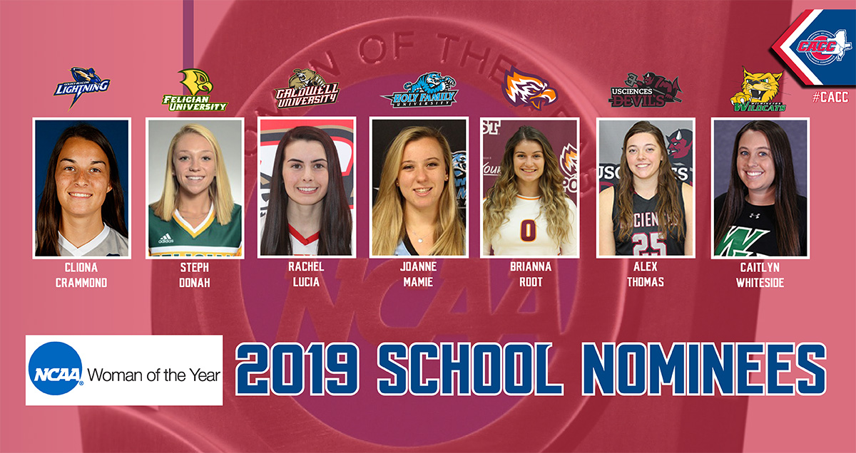 Seven CACC Standouts Recognized as School Nominees for 2019 NCAA Woman-of-the-Year Award