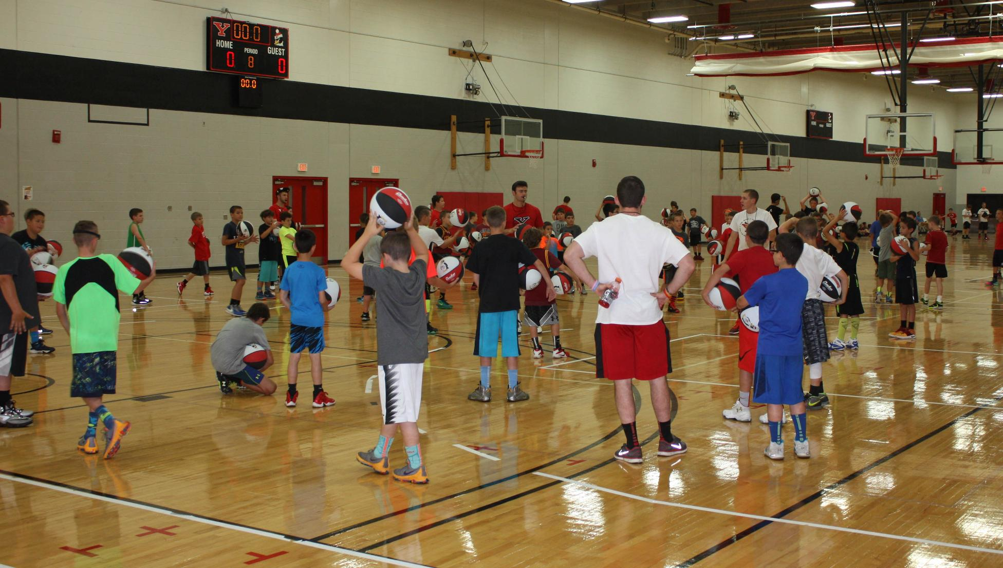 Men's Basketball Posts Banner Summer Camp Numbers