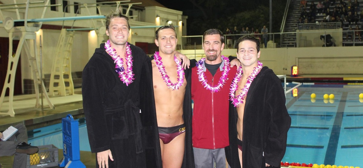 Seniors Ethan Lewis, Zack Rossman, and Harrison Miller were honored prior to the Stags 10-9 victory over the Poets on Wednesday night at Axelrood Pool.
