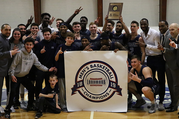 Greyhounds Repeat as Landmark Conference Men's Basketball Champions