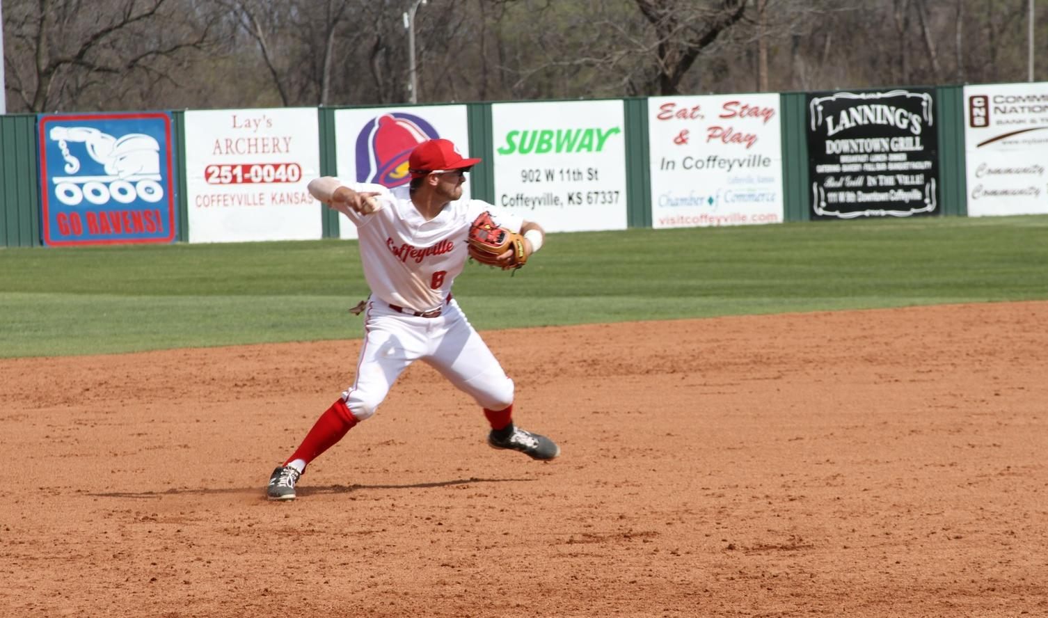Red Raven Baseball Splits Home Double Header With Johnson County
