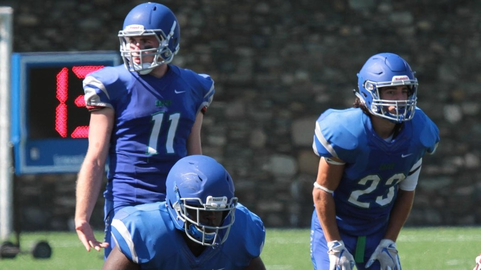 After falling behind 8-0 Salve Regina scored the final 31 points of the game to defeat Becker 31-8.